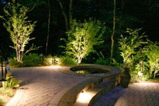 Projektowanie małych ogrodów: wybór oświetlenia
