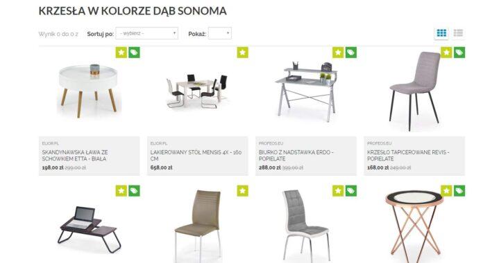 Krzesła drewniane dąb sonoma