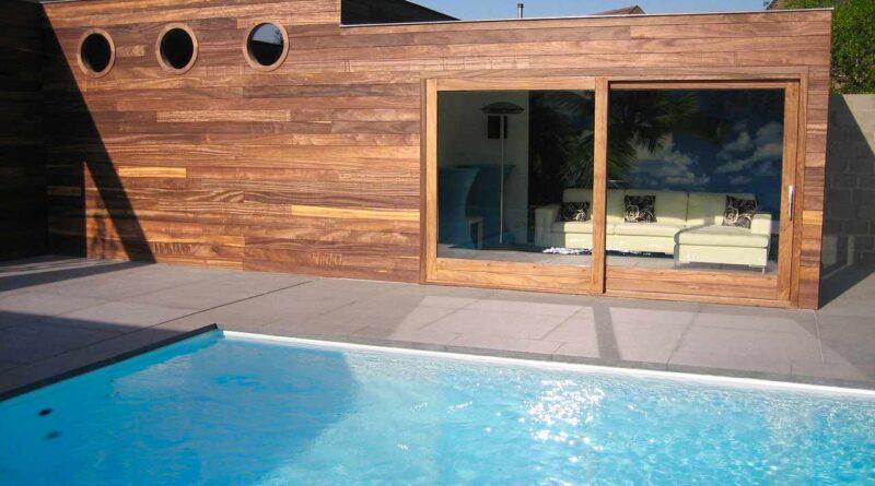 basen przy domu